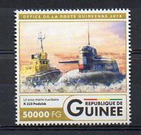 PODOLSK K-223 Russian Navy SSBN - Submarine Warship Stamp (Guinea 2016) - MNH (1W2045) - Submarines