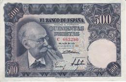 BILLETE DE ESPAÑA DE 500 PTAS AÑO 1951 DE BENLLIURE SERIE C EN CALIDAD EBC (XF)   (BANKNOTE) - 500 Pesetas