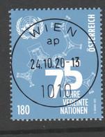 """ÖSTERREICH 2020: """"75 J.Vereinte Nationen"""" Gestempelt (s.Scan) - 2011-... Gebraucht"""