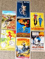 Lot De 7 CPM Publicitaires (vélo, Cycle, Bicyclette) Terrot, Lucifer, Sirius, Alcyon, Aiglon, Presto, La Liberator) - Radsport
