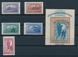 Romania 1947; Working Schools,Mi#1042-46,MNH; Block 37,MNH. - 1918-1948 Ferdinand, Charles II & Michael