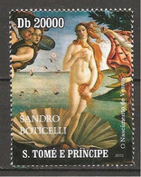S.TOME' & PRINCIPE - 2010 BOTTICELLI Nascita Di Venere (Uffizi, Firenze) Nuovo** MNH - Altri