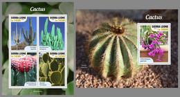 SIERRA LEONE 2020 MNH Cactus Kakteen M/S+S/S - OFFICIAL ISSUE - DHQ2043 - Sukkulenten