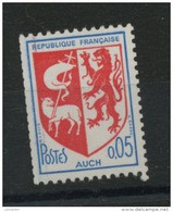 FRANCE -  0,05 AUCH  N° ROUGE AU DOS-  N° Yvert 1468b** - 1941-66 Coat Of Arms And Heraldry