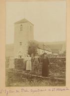 L'Église De Drée (Côte D'Or) Dépendant De Saint-Mesmin. 1896. Album De L'historien Gérard De Beauregard. - Antiche (ante 1900)