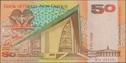 TWN - PAPUA NEW GUINEA 11a - 50 Kina 1989 Prefix HTU - Signatures: ToRobert & Vele UNC - Papua Nuova Guinea