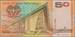 TWN - PAPUA NEW GUINEA 11a - 50 Kina 1989 Prefix HUC - Signatures: ToRobert & Vele UNC - Papua Nuova Guinea