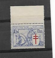 België  N°  399 Xx Postfris Bladboord - Unused Stamps