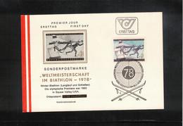 Austria / Oesterreich 1978 World Biathlon Championship Hochfilzen Interesting FDC - Wintersport (Sonstige)