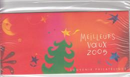 FRANCE -  POCHETTE  SOUVENIR PHILATELIQUE MEILLEURS VOEUX 2005 SOUS BLISTER NEUF   / TBS - Souvenir Blokken