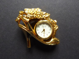 """MINI WATCH LADIES SANDLE  Shape IN BRASS Brand """"LIBERTY"""" & 18K GOLD PLATED Need Battery - Other"""