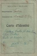Carte D'identité D'une étudiante De Mareuil S/Lay (Vendée)  - Timbres Fiscaux à 13F. (2,20F X 5) + 2F. - Autres