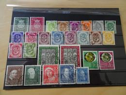 Bund Jahrgang 1950-51 Komplett Gestempelt (14384) - Usados