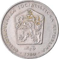 Monnaie, Tchécoslovaquie, 2 Koruny, 1980, TB+, Copper-nickel, KM:75 - Czechoslovakia