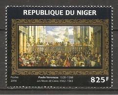 NIGER - 2016 PAOLO VERONESE Le Nozze Di Cana (Louvre, Parigi) Nuovo** MNH - Religione