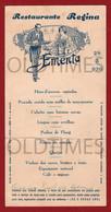 PORTUGAL - RESTAURANTE REGINA - EMENTA - 1936 MENU - Menu