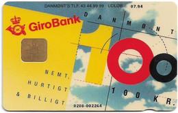 Denmark - Danmønt - Girobank & Posten - DD013B - 100Kr. Exp. 07.1994, 1.098ex, Used - Dänemark