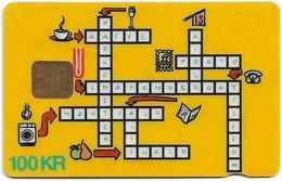Denmark - Danmønt - Crossword Puzzle - DD17C - 100Kr. Exp. 02.1995, 1.946ex, Used - Dänemark