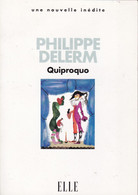 "C 12) Livre Inédit De 48 Pages ELLE ""Quiproco"" ""Philippe Delerm"" 1997  (Fmt A 6) - Boeken, Tijdschriften, Stripverhalen"