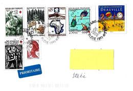 FRANCIA - 2020 Lettera Prioritaria Per L'estero Con 7 Francobolli In Euro E Franchi - 3977 - Francia