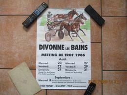 DIVONNE LES BAINS MEETING DE TROT 1986  60cm/40cm - Affiches