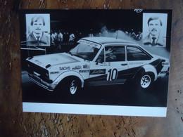 Photo De Presse RALLYE FORD ESCORT RS - Walter SMOLEJ / Werner HOHENADEL (+/- 1983) - Coches
