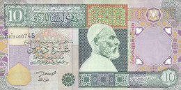 LIBYA 10 DINARS 2002 P-66 SIG/4 ZILITNI VF+ HIGH CRISP WAVY  */* - Libye