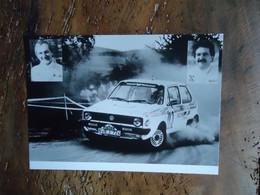 Photo De Presse RALLYE VW GOLF -  Friedhelm KISSEL / Reinhard MICHEL (+/- 1983) - Cars