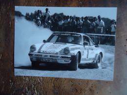Photo (de Presse) RALLYE PORSCHE 911 TURBO - ( Manfred Hero  +/- 1983 ?) - Cars