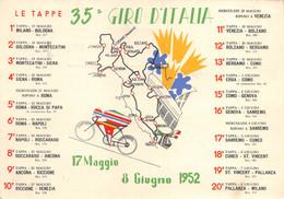 "9724"" 35° GIRO D'ITALIA-17/5-8/6-1952-19a TAPPA ST.VINCENT/PALLANZA""TIMBRO GAZZETTA D. SPORT -VERA FOTO-CART. SPED. 1952 - Radsport"