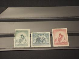 CECOSLOVACCHIA -1937 INFANZIA  3 VALORI - NUOVI(+) - Czechoslovakia