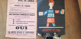 COMITES OUVRIERS ET PROFESSIONNELS POUR LE SOUTIEN AU GENERAL DE GAULLE /VOTEZ OUI - Posters
