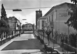 """9731""""SANTHIA'-VIALE DELLA VITTORIA E STAZIONE""""RISTORANTE GIARDINETTO-VERA FOTO-CARTOLINA NON SPEDITA - Vercelli"""
