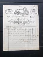 PALERMO FATTURA  GIUSEPPE BRUNO ROSOLI VINI ESTERI E DI SICILIA BOMBONIERE 1867 VINO UVA - Italia