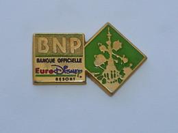 Pin's BNP, BANQUE OFFICIELLE EURODISNEY - Banks