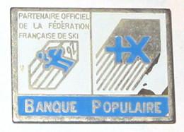 Pin's BANQUE POPULAIRE, PARTENAIRE SKI Français - Banks
