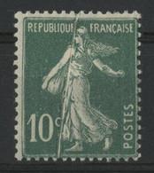 N° 159a Neuf * (MH). Avec VARIETE DE PLI ACCORDEON. TB. Voir Description - Varieties: 1921-30 Mint/hinged