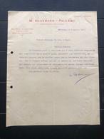 PALERMO LETTERA INTESTATA M. HAUSMANN ESPORTAZIONE DI VINI SICILIANI  1912  VINO UVA - Italia