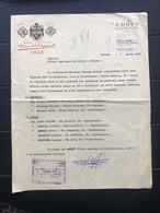 PALERMO LETTERA INTESTATA CASA VINICOLA DUCA DI SALAPARUTA VINI CORVO   1958  VINO UVA - Italia