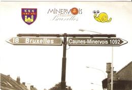 CP 11 France 2008 - Caunes-Minervois Et Bruxelles, Week-end Belge 21/7/2018 - Carte Publicitaire - Sonstige Gemeinden