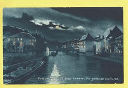 * Namur - Namen (La Wallonie) * (Ed. M. H., Nr 25) La Basse Sambre, Vue Prise Du Confluent, Canal, Lune, Bateau - Namur