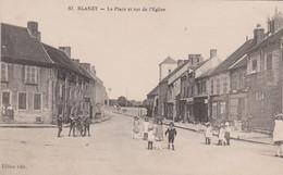 BLANZY  71 ( LA PLACE ET RUE DE L' EGLISE  ) - Otros Municipios