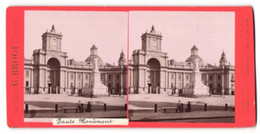 Stereo-Foto G. Brogi, Firenze, Ansicht Napoli, Dante-Monument - Stereoscoop