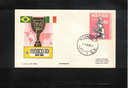 Mexico 1970 World Football Cup Mexico Interesting Letter - 1970 – Mexique