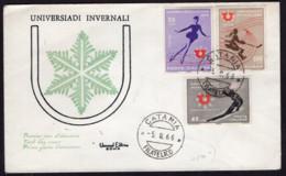 Italia - 1966 - FDC - Sports D'hiver - Hockey Sur Glace - Patinage - Ski - Wintersport (Sonstige)