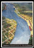 Germany 1936 Olympics Berlin Gruenau Rudern Card USED 25pf Rowing Stamp 98773 - Postkaarten