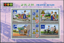Korea 2020. Traffic Rules (MNH OG) Souvenir Sheet - Korea (Nord-)
