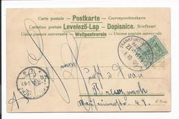 Bahnpost  Frankfurt (M.) - Limburg,  Zug 614 Auf  Col. AK  1901 - Marcofilia - EMA ( Maquina De Huellas A Franquear)