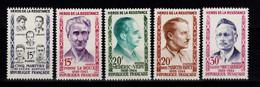 YV 1198 à 1202 N** Complete Heros De La Resistance Cote 4 Euros - Nuovi