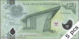 TWN - PAPUA NEW GUINEA 35 - 2 Kina 2008 DEALERS LOT X 5 - 35th Ann. Bank Of PNG - Polymer - Prefix BP UNC - Papua Nuova Guinea